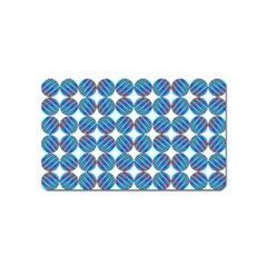 Geometric Dots Pattern Rainbow Magnet (name Card)