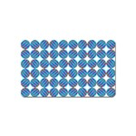 Geometric Dots Pattern Rainbow Magnet (Name Card) Front