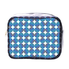Geometric Dots Pattern Rainbow Mini Toiletries Bags by Nexatart