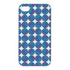 Geometric Dots Pattern Rainbow Apple Iphone 4/4s Premium Hardshell Case by Nexatart