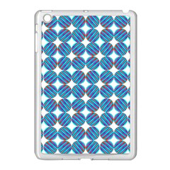 Geometric Dots Pattern Rainbow Apple Ipad Mini Case (white) by Nexatart