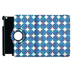 Geometric Dots Pattern Rainbow Apple Ipad 2 Flip 360 Case by Nexatart