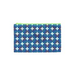 Geometric Dots Pattern Rainbow Cosmetic Bag (xs) by Nexatart