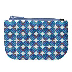 Geometric Dots Pattern Rainbow Large Coin Purse