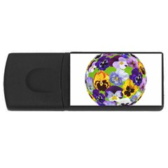 Spring Pansy Blossom Bloom Plant Usb Flash Drive Rectangular (4 Gb) by Nexatart