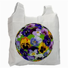 Spring Pansy Blossom Bloom Plant Recycle Bag (two Side)  by Nexatart