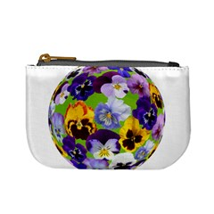 Spring Pansy Blossom Bloom Plant Mini Coin Purses by Nexatart