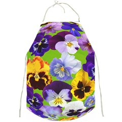 Spring Pansy Blossom Bloom Plant Full Print Aprons by Nexatart