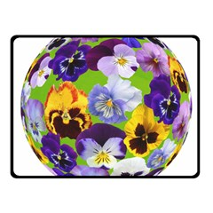 Spring Pansy Blossom Bloom Plant Fleece Blanket (small) by Nexatart