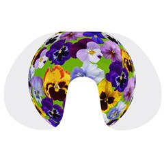Spring Pansy Blossom Bloom Plant Travel Neck Pillows by Nexatart