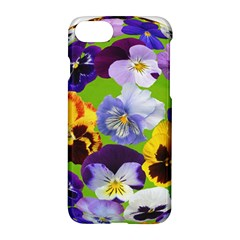 Spring Pansy Blossom Bloom Plant Apple Iphone 7 Hardshell Case by Nexatart