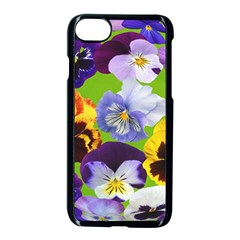 Spring Pansy Blossom Bloom Plant Apple Iphone 7 Seamless Case (black) by Nexatart