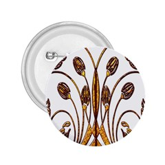 Scroll Gold Floral Design 2 25  Buttons by Nexatart