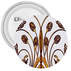 Scroll Gold Floral Design 3  Buttons by Nexatart