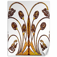 Scroll Gold Floral Design Canvas 36  X 48   by Nexatart