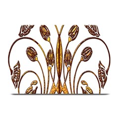 Scroll Gold Floral Design Plate Mats by Nexatart