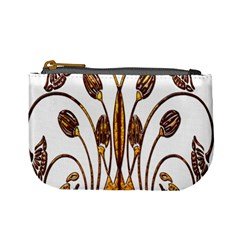 Scroll Gold Floral Design Mini Coin Purses by Nexatart