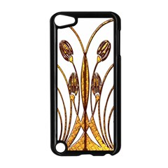 Scroll Gold Floral Design Apple Ipod Touch 5 Case (black) by Nexatart