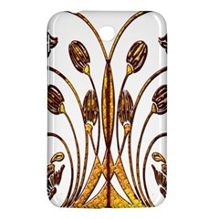 Scroll Gold Floral Design Samsung Galaxy Tab 3 (7 ) P3200 Hardshell Case  by Nexatart
