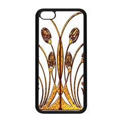 Scroll Gold Floral Design Apple Iphone 5c Seamless Case (black)