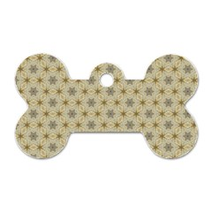 Star Basket Pattern Basket Pattern Dog Tag Bone (two Sides) by Nexatart