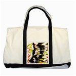 Canvas Acrylic Digital Design Two Tone Tote Bag Front