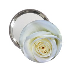 Flower White Rose Lying 2 25  Handbag Mirrors by Nexatart
