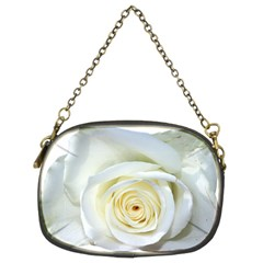 Flower White Rose Lying Chain Purses (two Sides)  by Nexatart
