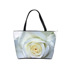 Flower White Rose Lying Shoulder Handbags by Nexatart