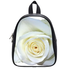 Flower White Rose Lying School Bags (small)  by Nexatart