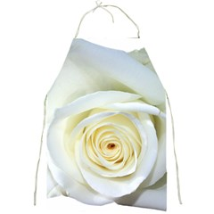 Flower White Rose Lying Full Print Aprons