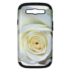 Flower White Rose Lying Samsung Galaxy S Iii Hardshell Case (pc+silicone) by Nexatart