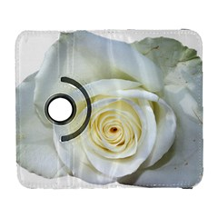 Flower White Rose Lying Galaxy S3 (flip/folio) by Nexatart