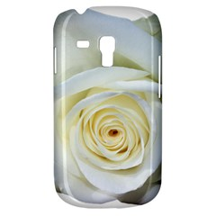 Flower White Rose Lying Galaxy S3 Mini by Nexatart