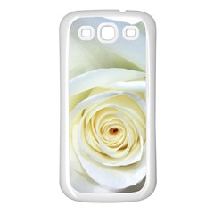 Flower White Rose Lying Samsung Galaxy S3 Back Case (white) by Nexatart