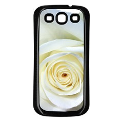 Flower White Rose Lying Samsung Galaxy S3 Back Case (black) by Nexatart