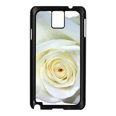 Flower White Rose Lying Samsung Galaxy Note 3 N9005 Case (black) by Nexatart