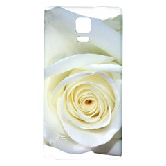 Flower White Rose Lying Galaxy Note 4 Back Case by Nexatart