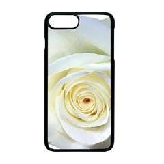 Flower White Rose Lying Apple Iphone 7 Plus Seamless Case (black)