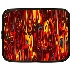 Effect Pattern Brush Red Orange Netbook Case (large) by Nexatart