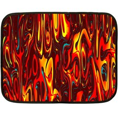Effect Pattern Brush Red Orange Double Sided Fleece Blanket (mini)  by Nexatart