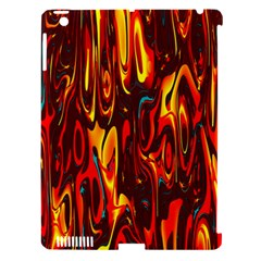 Effect Pattern Brush Red Orange Apple Ipad 3/4 Hardshell Case (compatible With Smart Cover)