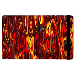 Effect Pattern Brush Red Orange Apple Ipad 2 Flip Case by Nexatart