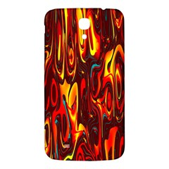 Effect Pattern Brush Red Orange Samsung Galaxy Mega I9200 Hardshell Back Case by Nexatart