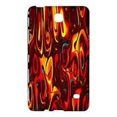 Effect Pattern Brush Red Orange Samsung Galaxy Tab 4 (8 ) Hardshell Case  by Nexatart