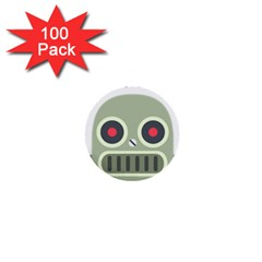 Robot 1  Mini Buttons (100 Pack)  by BestEmojis