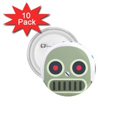 Robot 1 75  Buttons (10 Pack) by BestEmojis