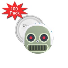 Robot 1 75  Buttons (100 Pack)  by BestEmojis