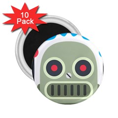 Robot 2 25  Magnets (10 Pack)  by BestEmojis