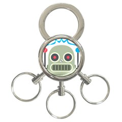 Robot 3 Ring Key Chains by BestEmojis